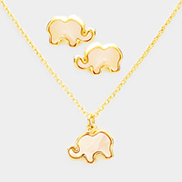 Elephant Celluloid Pendant Necklace