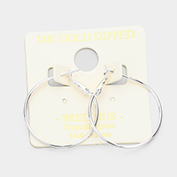 14K Gold Filled 3 cm Metal Hypoallergenic Hoop Earrings