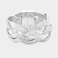 Braided Wide Cord Magnetic Bracelet