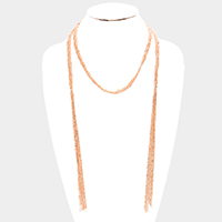 Braided Metal Chain Wrap Necklace