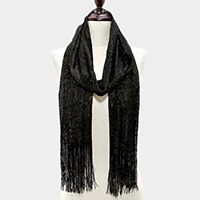 Metallic Thread Accented Scarf