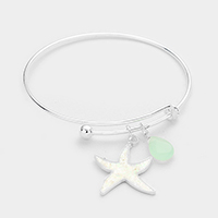 Starfish Teardrop Charms Hook Bracelet