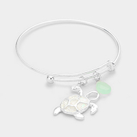 Turtle Teardrop Charms Hook Bracelet