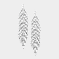 Oversized Pave Crystal Rhinestone Earrings