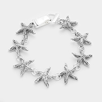 Antique Vintage Starfish Link Magnetic Bracelet