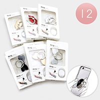 12PCS - Bow Lip Cell Phone Ring Holder
