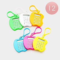 12PCS - Apple Shape Mini Calculators