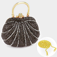 Crystal pave hard shell evening clutch bag _ reduced price