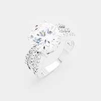 Cubic Zirconia Round Detail Ring