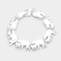 Mama Bear Charms Metal Link Magnetic Bracelet
