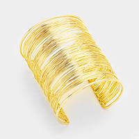 Multi Layered Metal Cuff Bracelet