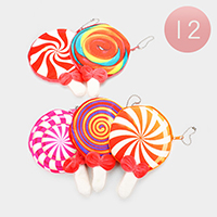 12PCS - Lolly Pop Coin Zipper Purses