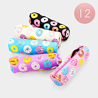12PCS - Donuts Print Pencil Cases