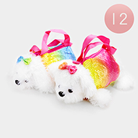 12PCS - Sequin Dog Doll Crossbody Bag