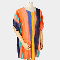 Abstract Stripe Poncho