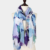 Sequin Deco Abstract Flower Pattern Scarf