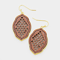 Cut Out Genuine Leather Dangle Earrings