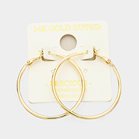 14K Gold Filled 4cm Metal Hypoallergenic Hoop Earrings