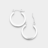 14K Gold Filled Metal Hypoallergenic Hoop Pin Catch Earrings