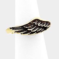 Antique Metal Wing Stretch Ring