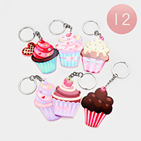 12PCS - Cupcake Key Chains
