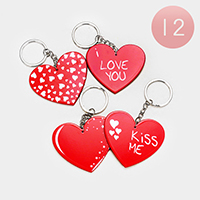 12PCS - Heart Key Chains