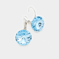Genuine Austrian Round Crystal Lever Back Earrings