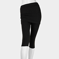 Skirt Capri Stretch Leggings