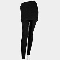 Heavy Cotton Skirt Stretch Leggings