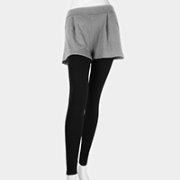 Short Layered Ankle Heavy Leggings
