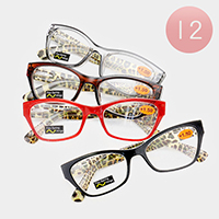 12PCS - Leopard Patterned Reading Glasses
