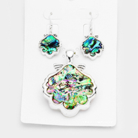 Abalone Shell Magnetic Pendant Set