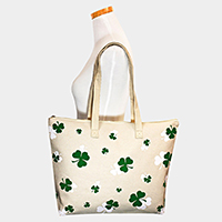 St. Patrick's Day Clover Patterned Shamrock Eco Tote Bag