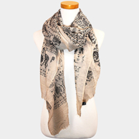 Elephant Patterned Scarf