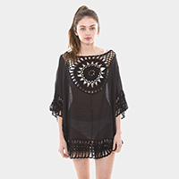 Crochet Swimwear Cover Up Top