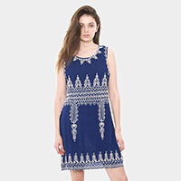 Embroidery Abstract Pattern Dress