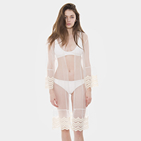 See Through Lace Long Poncho