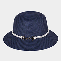 Anchor Brim Straw Sun Hat