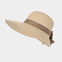 Bow Trim Straw Sun Hat