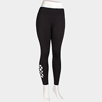 Comfy Cutout Crisscross Leggings