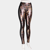 Comfy Leopard Pattern Fishnet Insert Leggings