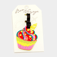 Cupcake _ Bon Voyage Rubber Luggage Tag