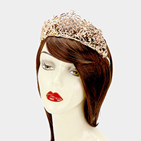 Floral Crystal Pageant Queen Tiara