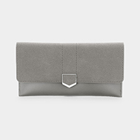Faux Leather Long Wallet
