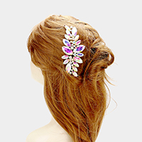 Oval Glass Cluster Vine Hair Comb