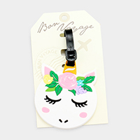Unicorn _ Bon Voyage Rubber Luggage Tag