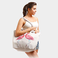 Flamingo Beach Tote Bag