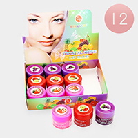12PCS - Crystal Shine Fruits Flavor Lip Balms