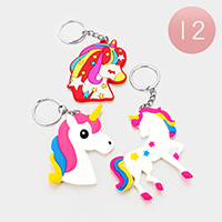 12PCS - Colorful Unicorn Key Chains