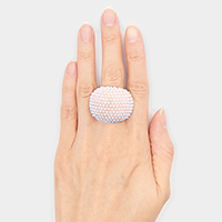 Wide Pearl Dome Stretch Ring